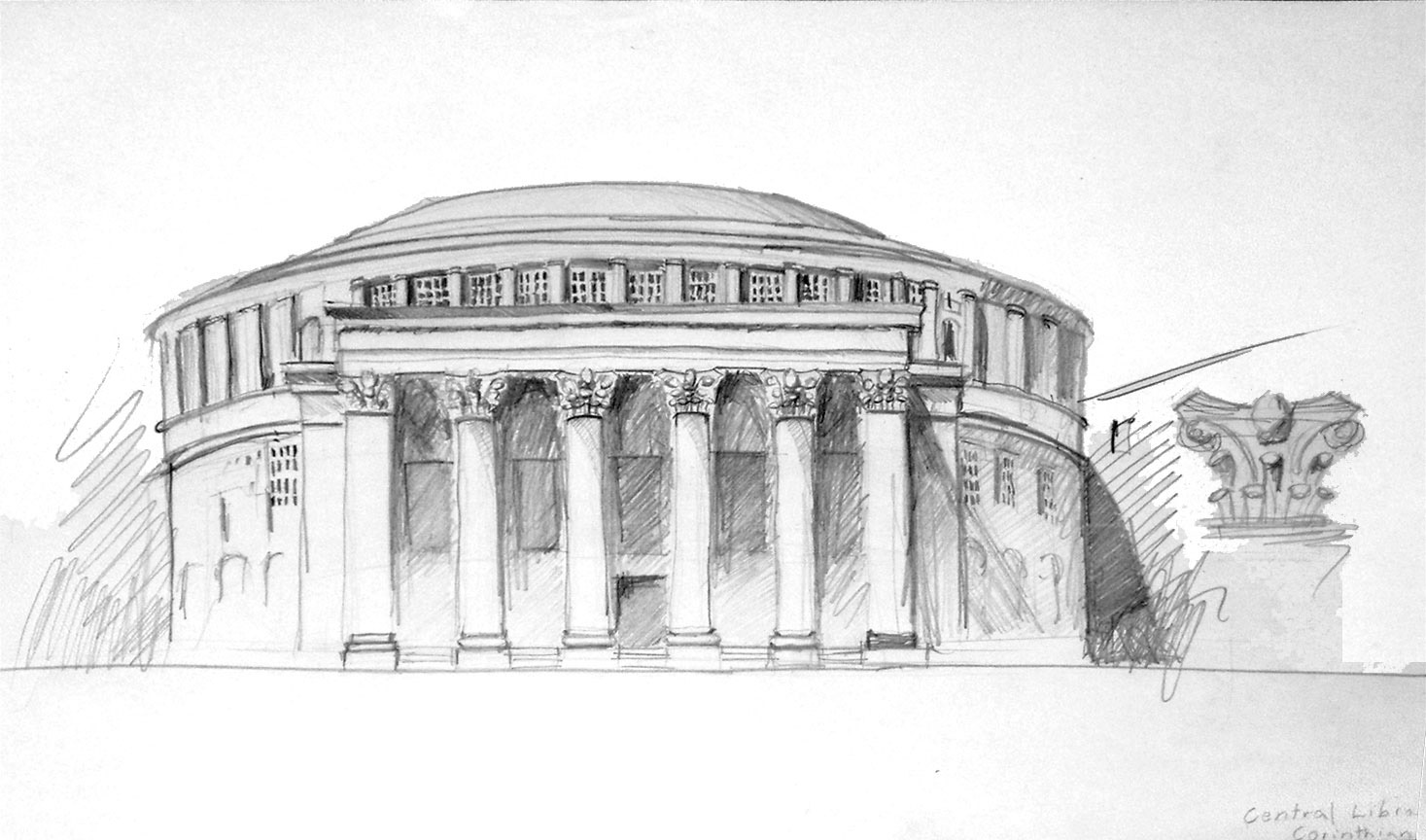 Corinthian Order Drawing Corinthian